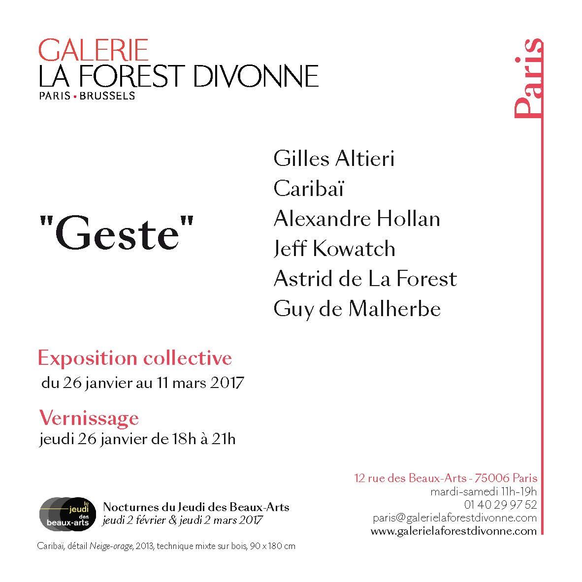 "Press release ""Geste"""